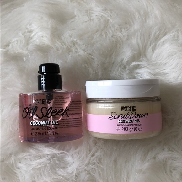 2a8c8ad653d5c Pink body scrub and coconut oil NWT